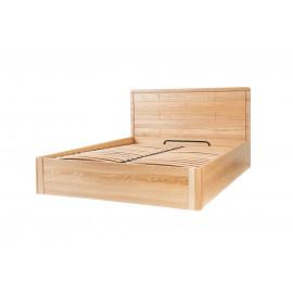 Кровать Лауро из дуба с подъёмным механизмом